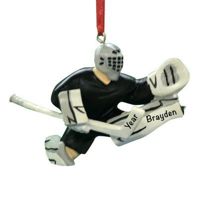 Ice Hockey Goalie Personalized Christmas Ornament