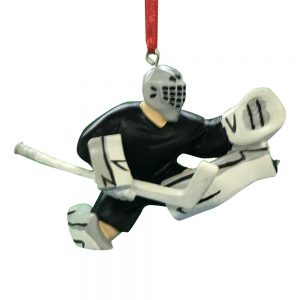 Ice Hockey Goalie Personalized Christmas Ornament -Blank
