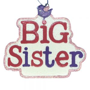 Big Sister Personalized Christmas Ornament -Blank