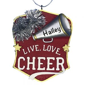 Cheerleader Personalized Christmas Ornament