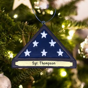 Personalized Soldier Memorial Christmas Ornament