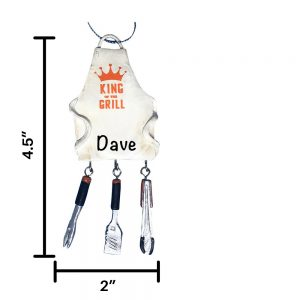 BBQ King of the Grill Personalized Christmas Ornament