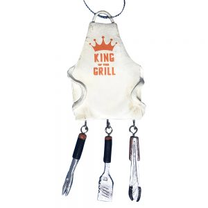 King Of The Grill BBQ Personalized Christmas Ornament -blank