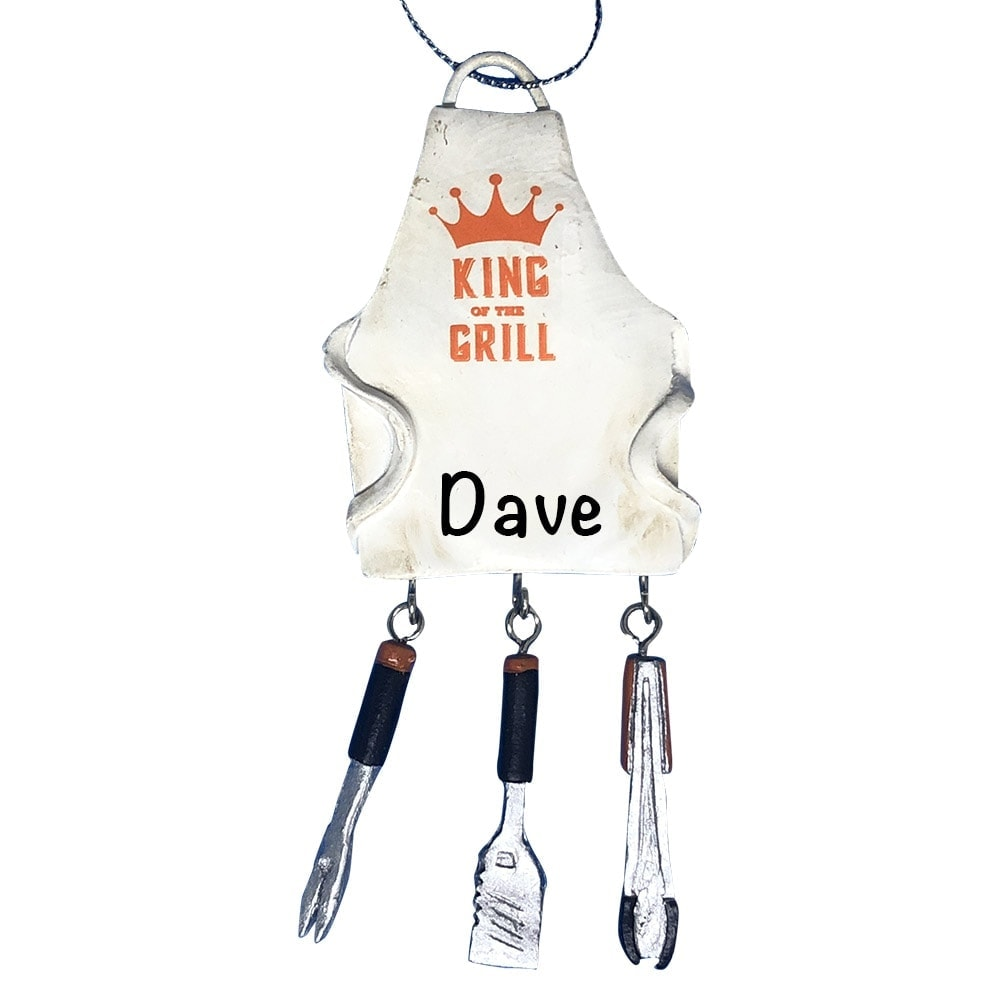 King Of The Grill BBQ Personalized Christmas Ornament