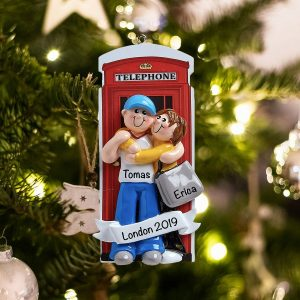 Personalized Love in London Christmas Ornament
