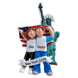 Love In New York Personalized Christmas Ornament