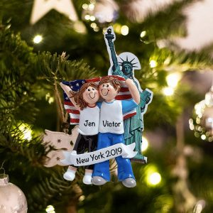 Personalized Love in New York Christmas Ornament