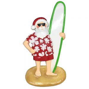 Surfing Santa Personalized Christmas Ornament -Blank