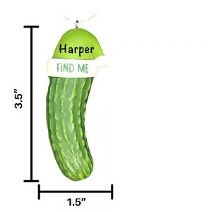 Pickle Personalized Christmas Ornament