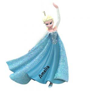 Elsa 3D Frozen Personalized Christmas Ornament