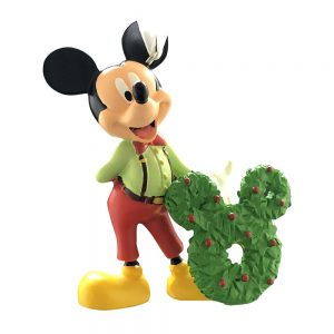 Mickey Mouse With Wreath Personalized Christmas Ornament - Blank
