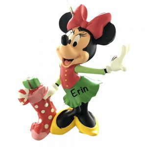 Minnie Mouse Stocking Personalized Christmas Ornament