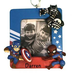 Marvel Superhero Photo Frame Personalized Christmas Ornament