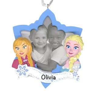 Frozen Photo Frame Personalized Christmas Ornament