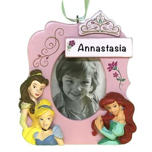 Disney Princesses Photo Frame Personalized Christmas Ornament