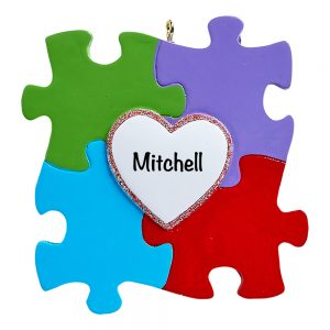 Autism Awareness Personalized Christmas Ornament