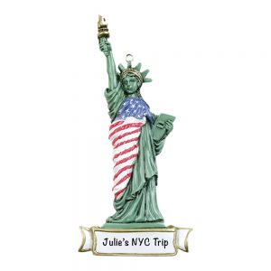 Statue of Liberty NYC Personalized Christmas Ornament