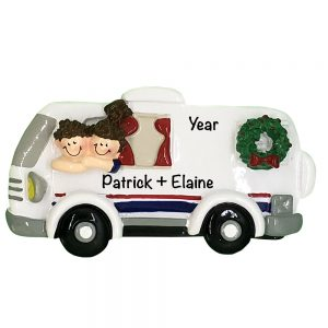RV Couple Personalized Christmas Ornament