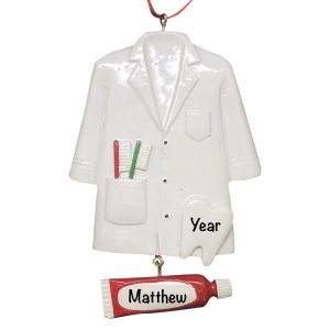 Dentist Coat Personalized Christmas Ornament