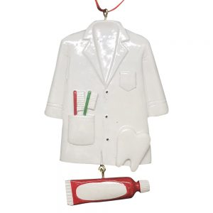Dentist Coat Personalized Christmas Ornament - Blank