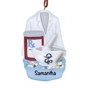 Pharmacist Personalized Christmas Ornament
