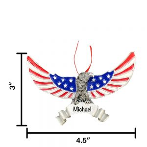 Patriotic Eagle Personalized Christmas Ornament