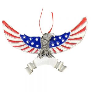 Patriotic Eagle Personalized Christmas Ornament - Blank