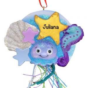 Jellyfish Personalized Christmas Ornament