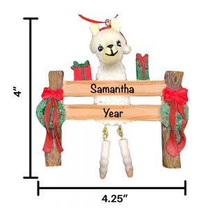 Llama Personalized Christmas Ornament