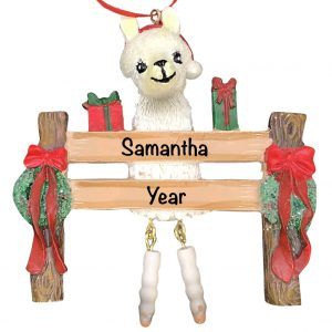 Llama Personalized Christmas Ornament