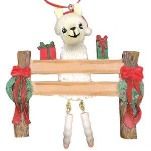 Llama Personalized Christmas Ornament - Blank