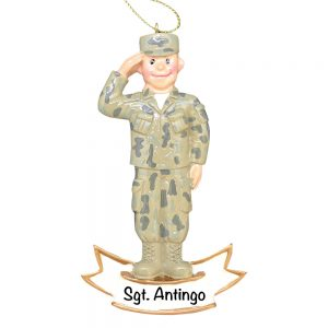 U.S. Army Personalized Christmas Ornament