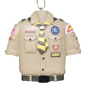 Boy Scouts Tan Shirt Personalized Christmas Ornament - Blank