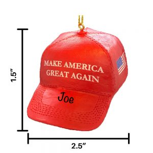 MAGA Hat Personalized Christmas Ornament