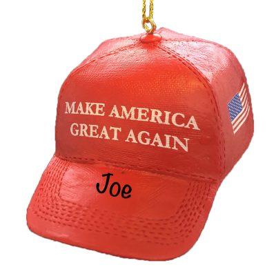 Make America Great Again MAGA Hat Personalized Christmas Ornament