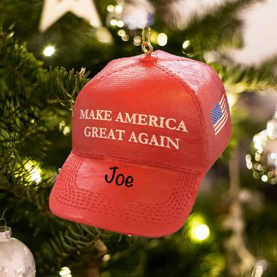 Personalized Make America Great Again MAGA Hat Christmas Ornament