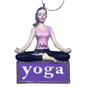 Yoga Namaste Personalized Christmas Ornament