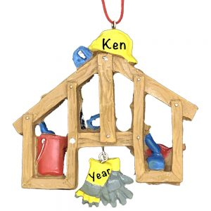 Construction Handyman Tools Personalized Christmas Ornament