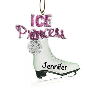 Ice Skate Personalized Christmas Ornament