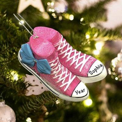 Personalized JoJo Siwa Sneaker Bow Christmas Ornament