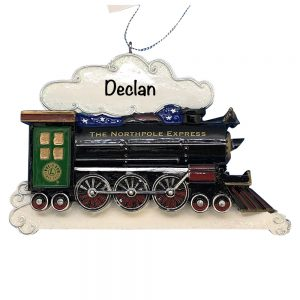 North Pole Express Train Personalized Christmas Ornament