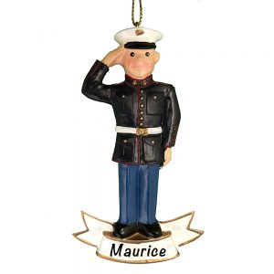 Marine Personalize Christmas Orna