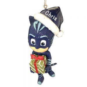 PJ Masks Catboy Santa Hat Personalized Christmas Ornament