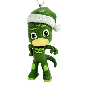 PJ Masks Gecko Santa Hat Personalized Christmas Ornament Blank