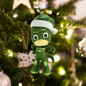 Personalized PJ Masks Gekko Santa Hat Christmas Ornament