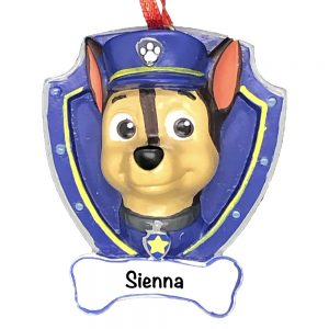 Paw Patrol Chase Personalized Christmas Ornament