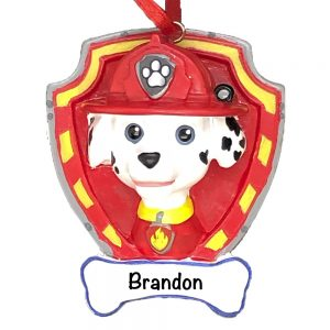 Paw Patrol Marshall Personalized Christmas Ornament