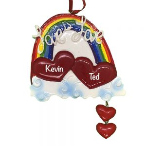 Gay Pride Love Personalized Christmas Ornament