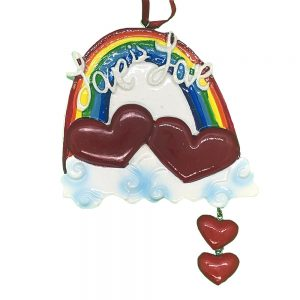 Gay Pride Love Personalized Christmas Ornament - Blank