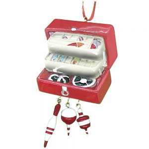 Fishing Tackle Box Personalized Christmas Ornament Blank